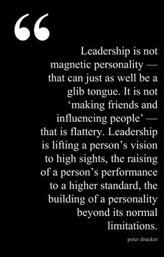 Peter Drucker #leadership #influence #performance