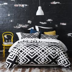 I think I love this if I can't find a chevron one!   Home Republic Geometry Quilt Covers & Coverlets www.adairs.com.au/bedroom/quilt-covers-&-coverlets/home-republic/geometry/