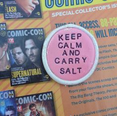 Supernatural Keep Calm and Carry Salt Pin by artsdaughter on Etsy, $6.00