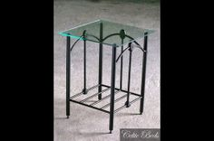 The Lagan wrought iron table has a traditional, almost antique design. Old Beds, Iron Table, Headboard And Footboard, Wrought Iron, Bar Stools, Old Things, Traditional, Antiques, Classic