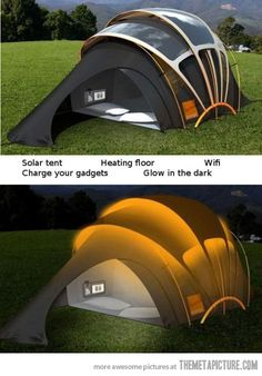 Camping like a boss - Ok, this is kinda cool, but no thanks!!  I do my camping as rustic as possible!!!  :)