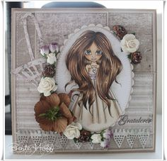 Bente's hobby blog: saturated canary Mo Manning, Copic, Dolls, Paper, Blog, Handmade Cards, Inspiration, Image, Stamps