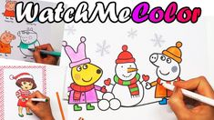 PRINT YOUR OWN Peppa Coloring Pages! Watch me color them and then come to WatchMeColor.com and print your own! They are so fun to color. Peppa Pig, Rebecca R...