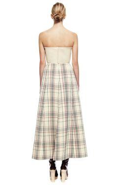 A-Line Checked Dress by DELPOZO for Preorder on Moda Operandi