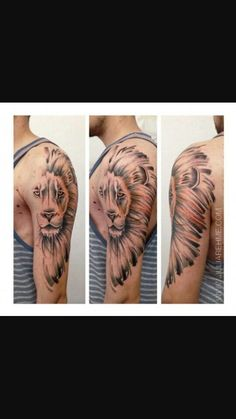 Lion tattoo Watercolor Tattoo, Tattoos, Style, Swag, Tattoo Watercolor, Tat, Tattoo, Tattooed Guys, Outfits