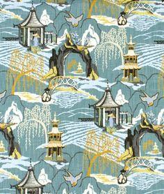 Robert Allen @ Home Neo Toile Cove Fabric - $21.85 | onlinefabricstore.net