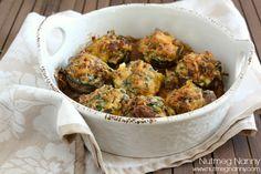 Sausage and Spinach Stuffed Mushrooms - Nutmeg Nanny