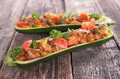Plněná cuketa s houbami a zeleninou | Recepty | KetoDiet CZ