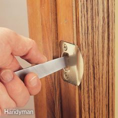 to fix a door that won't latch, simply file the edge of the strike plate until the latch clicks into place. it's a five-minute fix.