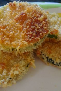 Zucchini Parmesan Crisps (use 1 part each coconut flour, almond flour and parmesan instead of bread crumbs)