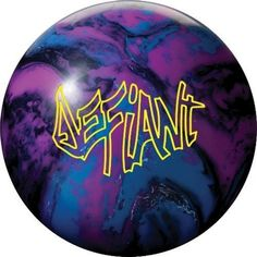 """Roto Grip Defiant Bowling Ball (14lbs) by Roto-Grip. $154.95. HIGH PERFORMANCE FEATURES: Coverstock: MicroBite Solid Reactive Weight Block: Paragon Core (14-16 pounds) Ball Color: Blue/Purple/Black All colors do vary somewhat from the picture shown. Ball Finish: 3000-grit Abralon RG Differential: 16#-.052, 15#-.054, 14#-.053 RG Average: 16#-2.49, 15#-2.49, 14#-2.52 Flare Potential: 7"""" Plus (High) Recommended Lane Conditions: Heavy Oil A few tiny pit holes in the ..."""