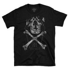 the end. Bad To The Bone, Skull, Mens Tops, Fashion, Moda, Fasion, Fashion Illustrations, Fashion Models, Skulls