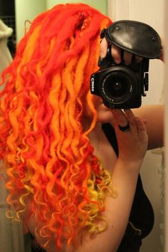 Image result for curly wool dreads