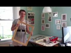"""▶ How to create a watercolor paper panel  GENIUS!! Stretch watercolor paper over stretcher bars, so it's like a """"canvas""""."""