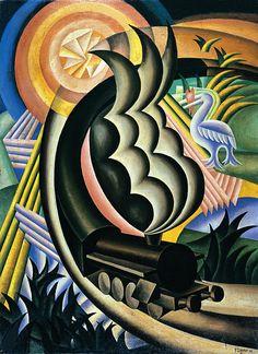 Il Blog di Mirco Conti: Il Treno, Fortunato Depero, 1926