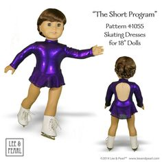 L&P Pattern 1055 Skating Dresses for 18 Dolls by leeandpearl