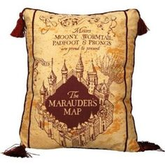 Marauder's Map Pillow--too bad it's no longer available :(