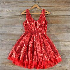 Dazzling Dusk Red Sequin NYE Dress