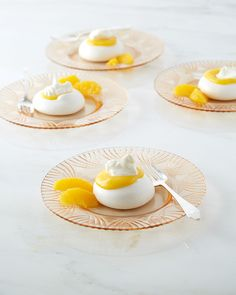 Crisp meringues, tangy orange curd, and rich whipped cream come together in one sensational dessert. Martha made this recipe on episode 612 of Martha Bakes. Party Desserts, Just Desserts, Dessert Recipes, Small Desserts, French Desserts, Dessert Food, Dessert Ideas, Cake Recipes, Meringue Pavlova