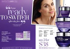 #SkinCareSaturday #YoungerSkin #AnewYou #AvonSkinCare Switch to ANEW You! ANEW Platinum ANY 2 for $38 Mix or MATCH- Eye & Lip Cream, Day Cream SPF 25 or Night Cream. Sale Valid In-Store Till 8/16/2016. Can't Make It In, but Want the SAVINGS? No Problem.  Shop Online with Us at https://pjack.avonrepresentative.com/set?setlang=1&exm=RepLinks