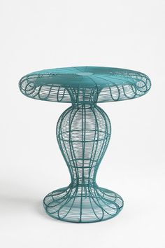 Coil Side Table (love the idea of teal and yellow with neutral grey to ground the colour!)