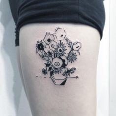 ✖️빈센트 반 고흐 -해바라기✖️ . (Vincent Van Gogh - Sunflower) . . #타투 #그림 #아트 #그림타투 #디자인 #일러스트 #블랙 #블랙타투 #tattoo #design #greemtattoo #draw #blackink #ink #tattooart #illustration #black #blackwork #라인타투 #linetattoo