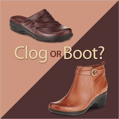 Take your pick... #clogs #boots