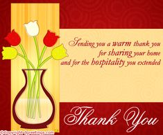 thanks for hospitality quotes quotesgram