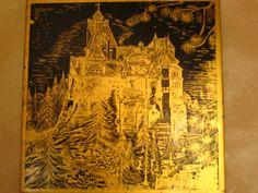 castello di Dracula in foglia doro.  www.pannelli-decorativi.it