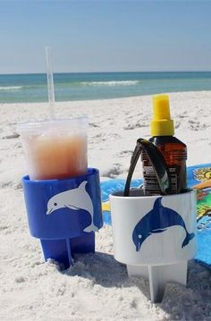 #5. Beach Drink Holder, keeps sand off your drink!-- 17 Awesome Products That Will Make This Your Best Summer Ever