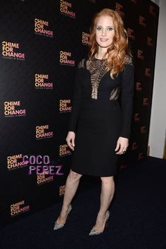 Jessica Chastain lends her star status to the Chime for Change concert