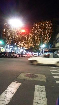Poços de Caldas MG   enfeitada para o Natal