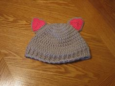 Crochet Siamese Cat Hat Pattern : 1000+ images about Free cat hat tutorials on Pinterest ...