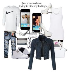 """""""Me&Bae"""" by dollz-n-donz ❤ liked on Polyvore featuring Helmut Lang, NIKE, Rip Curl, MICHAEL Michael Kors, LE3NO, Qupid and Kobelli"""