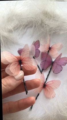 Cinco De Mayo Outfit Discover Set Violet and Light Pink Silk Butterfly Hairpins for Creative Hairstyle Butterfly Hair Clips Violet Butterfly Pink Butterfly Pink Butterfly, Butterfly Design, Creative Hairstyles, Diy Hairstyles, Hairstyles Videos, Cute Jewelry, Hair Jewelry, Jewellery, Papillon Rose