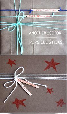 Fun way to use popsicle sticks