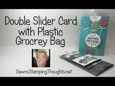 Double Slider Card using a Plastic Grocery Bag - YouTube