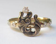 Antique ART NOUVEAU Water Dragon / Serpent by magwildwoodscloset, $399.00