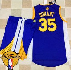 db5eaf18d ... Warriors 35 Kevin Durant Blue A Set The Finals Patch Stitched NBA Jersey .