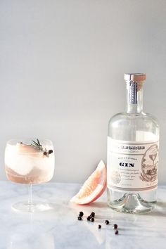 Pink cocktails for Valentine's Day - Elderflower Spanish Gin and Tonics -craftandcocktails.co