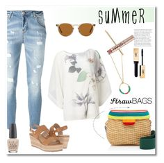 """Summer"" by vkmd ❤ liked on Polyvore featuring Phase Eight, Edie Parker, Philipp Plein, Steve Madden, OPI, Oliver Peoples, Dolce&Gabbana, Urban Decay, Yves Saint Laurent and strawbags"