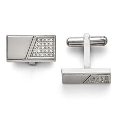 Men's Stainless Steel With Synthetic Cz Cuff Links - Personalized Gift Item. We encourage you to read the product description below in full before you place your order. So that you do not receive a product that you did not expect, especially width/length if available. We offer 30 Days Hassle Free Returns!. Goldia is one of the top performing Jewelry/Gift Category Vendors in Amazon Prime.