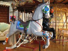 Rocking Carousel Horse , Maplewood Mall, St. Paul, Minnesota; photo by BunnyHugger, via Flickr