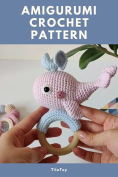 Crochet Whale, Diy Crochet And Knitting, Crochet Bebe, Crochet Animals, Crochet Dolls, Crochet Toys Patterns, Amigurumi Patterns, Stuffed Toys Patterns, Amigurumi Toys