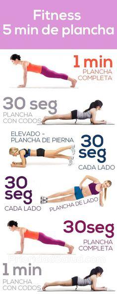 Fitness: 5 minutos de planchas (plank) para transformar tu cuerpo #ejercicios #fitness #plank #planchas #salud