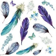 """6"""" LILAC MERMAID / FEATHERS & FLORALS by shopcabin Double Gauze Fabric, Cotton Twill Fabric, Fleece Fabric, Satin Fabric, Custom Fabric, Cotton Canvas, Feather Print, Spoonflower, Lilac"""