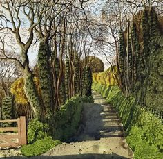 """""""Lane to Ruan Minor (Cadgwith)"""" by Simon Palmer  (watercolour with ink and gouache)"""