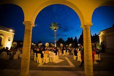 Wedding Dinner - private Villa Miani Roma  - Church Wedding in Rome - weddingplanner: www.prime-moments.com Wedding Dinner, Church Wedding, Rome Italy, Villa, Wedding, Wedding Meals, Fork, Villas, Rome