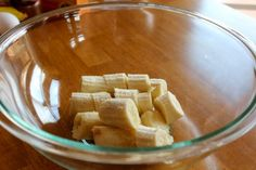 Slice bananas