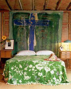 Tapestry Headboards; Green
